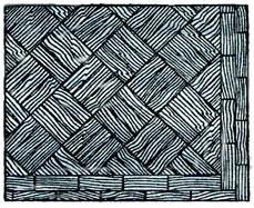 двойная диагональная елочкас двойным фризом