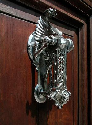 старинная дверная ручка-11