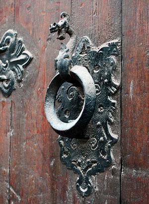 старинная дверная ручка-16