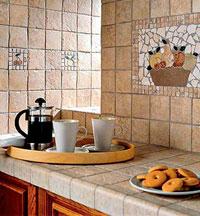 облицовка столешницы керамической плиткой