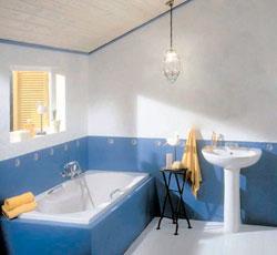 окрашивание стен в ванной