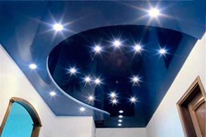натяжной потолок имитирующий звездное небо