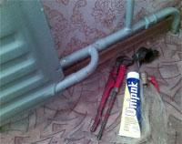 устранение аварий стальных труб отопления
