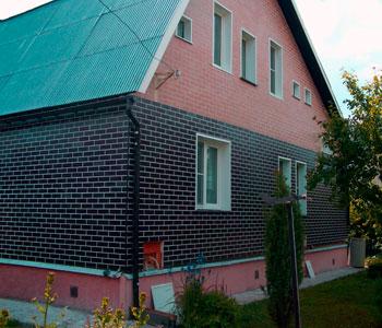 облицовка дома фасадными термопанелями