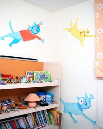 флуоресцентные обои для детской комнаты