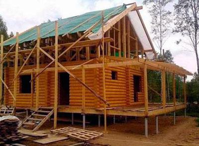 фундамент дома на винтовых сваях