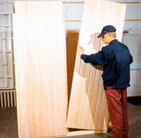 сборка стеновых панелей щитовой сауны