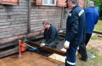 ремонт фундамента старого дома