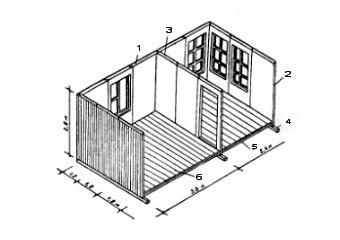 монтажная схема деревянных панельных стен