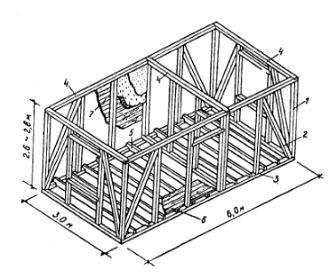 монтажная схема каркасных стен садового домика