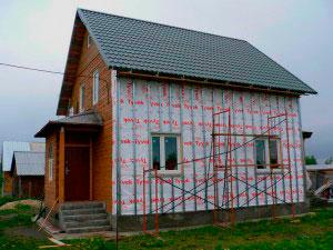 наружная отделка фасада блок-хаусом