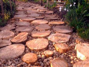 дорожки садовые из дерева