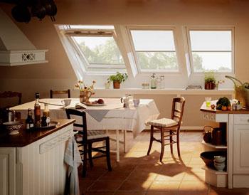 летняя кухня на мансарде