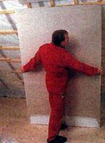 монтаж на обрешетку гипсокартонных листов