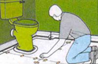 изготовление шаблона при укладке линолеума