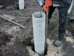установка асбоцементных труб