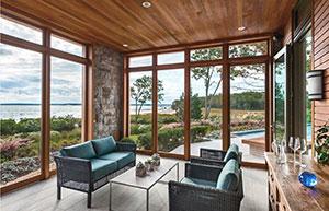 панорамные окна в часном доме